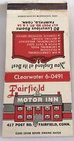 Matchbook Cover Fairfield Motor Inn Fairfield CT