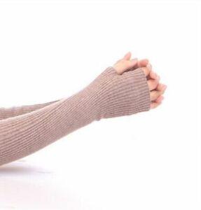 Long Gloves Fingerless Thin Warmer Cashmere Women Wool Gloves 1 Pair/Lot