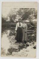 RPPC Postmarked 1910 Two Girls From Miller South Dakota