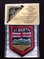 "Vtg Alberta Crest Flag 2 1/2"" Embroidered Patch Canada AB Souvenir NOS Travel"