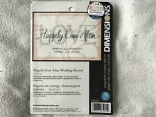 Dimensions Counted Cross Stitch Kit Happily Ever After Wedding record complete
