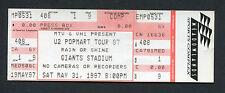Original 1997 U2 Unused Concert Ticket Popmart Tour Giants Stadium Discotheque