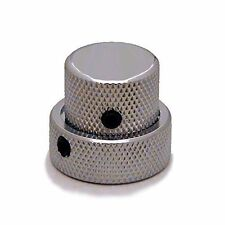 Ant Hill Music Large Concentric Guitar Control Knobs Chrome w/BLK Set Screws