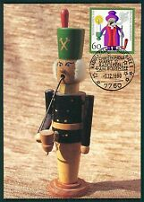 BRD MK 1990 WEIHNACHTEN RÄUCHERMÄNNCHEN MAXIMUMKARTE MAXIMUM CARD MC CM bt56