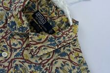 Polo Ralph Lauren Mens Size Large Camp Shirt Short Sleeve Wild Design Cotton
