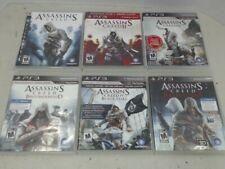 (PS3) Assassin's Creed, II, III, Brotherhood, Revelations, Black Flag - Lot of 6