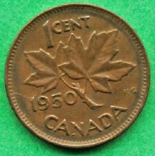 Canada  Lot G1118 1950 1 one Cent penny King George VI  Circulated