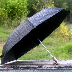 McQueen Skull Kito Automatic Three Folding Sun/Rain Umbrella MCQ Anti-UV Parasol