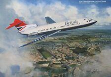 BRITISH AIRWAYS TRIDENT 2 ART PRINT BEA