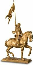 SAINT JOAN OF ARC STATUE SCULPTURE FIGURINE HORSE RIDING MEDIEVAL ART RELIGIOUS