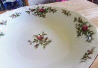 Johann Haviland Bavaria Moss Rose 3 Soup Coupe Bowls - Unused