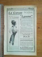 PUBLICITE ANCIENNE PUB ADVERT Corset Lysane Claverie - pub diverses au dos
