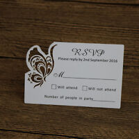 Personalized Butterfly Wedding RSVP cards,Wish well cards Free Design,Printed