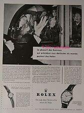 PUBLICITE ROLEX MONTRE CHRONOMETRE PERPETUAL GRANDS HOMMES DE 1956 FRENCH AD PUB