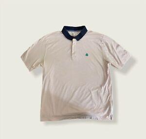 Brooks Brothers Boys Original Pink/White Striped Polo Shirt Size Large