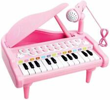 Piano Toy Keyboard for Kids Birthday Gift Pink Music Instruments with Microphone