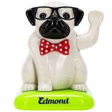 Edmond The Solar Pug Solar Powered Waving Pug Gadget Gift Toy Office Desk - Car