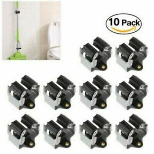 10 Stück Geräteleiste Besenhalter Gerätehalterung Lagerung Halterung Stielhalter