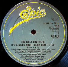 """Isley Brothers It's A Disco Night 12"""" ORIG'79 Epic Ain't Givin' Up No Love VINYL"""
