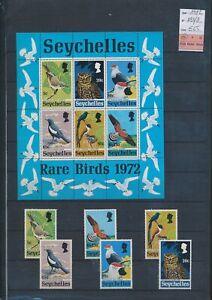 XC89754 Seychelles 1972 birds animals fine lot MNH cv 65 EUR