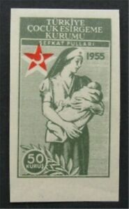 nystamps Turkey Stamp Mint OG NH Imperf Proof   S24x1300