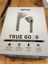 DEFUNC True Go Earbuds Charge Case White NIB New Silicone Tip