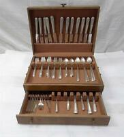 63 PIECE TOWLE CANDLELIGHT STERLING SILVER FLATWARE SET SILVERWARE 2,494 grams