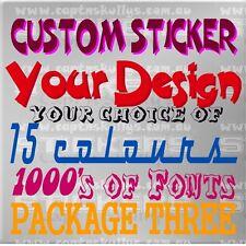 CUSTOM DESIGN STICKER/DECAL PACK 3- Capt'n Skullys Stickers Online MPN 2006
