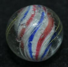 "Antique German handmade Solid Core pepermint swirl Marble 13/16"" lot MAR 224"