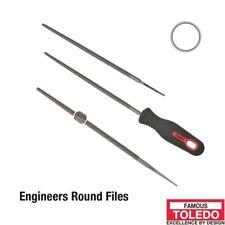 TOLEDO Round File Second Cut - 150mm 12 Pk 06RD02BU x12