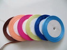 10m Double Sided Quality Satin Ribbon Roll Long Lengths Width 6,10,20mm Projects