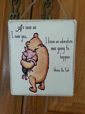 Winnie The Pooh Picture Quote Plaque , Sign. Solid Wood. Shabby chic gift. #P4