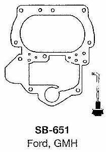 Fuelmiser Carburetor Service Kit SB-651 fits Holden H Series HG 3.0 186 (Red)...