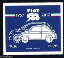 ITALIA 1 FRANCOBOLLO FIAT 500 2017 nuovo**