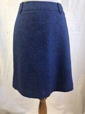 GORGEOUS Talbots Blue Herringbone Tweed Career Wool Skirt - Size 2
