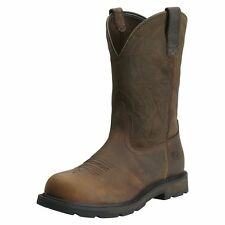 MENS ARIAT 10014241 GROUND BREAKER STEEL TOE BROWN WORK BOOT