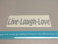 Live Laugh Love vinyl decal sticker