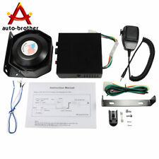 New Car Warning Alarm Fire Horn 200W Pa Speaker Mic System 8 Sound Loud