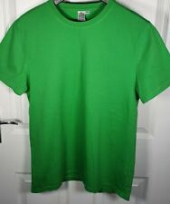 Topman Plain Green Short Sleeve T-Shirt - Size Medium - 100% Cotton