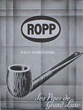 PUBLICITE PIPE ROPP GRAND LUXE TABAC FUMEUR ART DECO DE 1946 FRENCH AD PUB