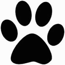30 Custom Black Paw Print Personalized Address Labels