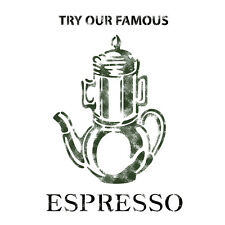 Stencil Template Espresso For Crafting Canvas DIY decor Wall art furniture