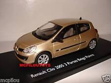 ELIGOR RENAULT CLIO 2005 BEIGE POIVRE 3 PORTES au 1/43°