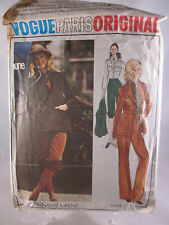 Vogue Paris Original Yves Saint Laurent Pattern 2653 Size 8 Cut Jacket Pants etc