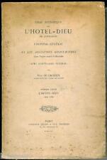 LE CACHEUX Essai histo sur l'Hôtel-Dieu de COUTANCES Manche 1e partie 1895 E.O.
