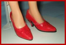 RED Embroidered High Heel Pumps Doll SHOES for Miss Revlon CISSY Dollikins