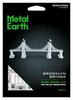 Fascinations Metal Earth 3D Laser Cut Steel Model Kit - New York Brooklyn Bridge