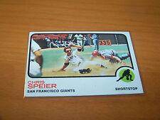 SAN FRANCISCO GIANTS CHRIS SPEIER 1973 TOPPS #273