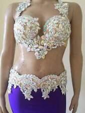 Egyptian Belly Dance Costume bra & Belt Set Professional Dancing 50% OFF
