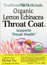 Lemon Echinacea Throat Coat Tea, Traditional Medicinals, 16 tea bag 1 pack